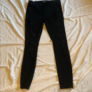 Abercrombie & Fitch black ripped skinny jeans 27/4